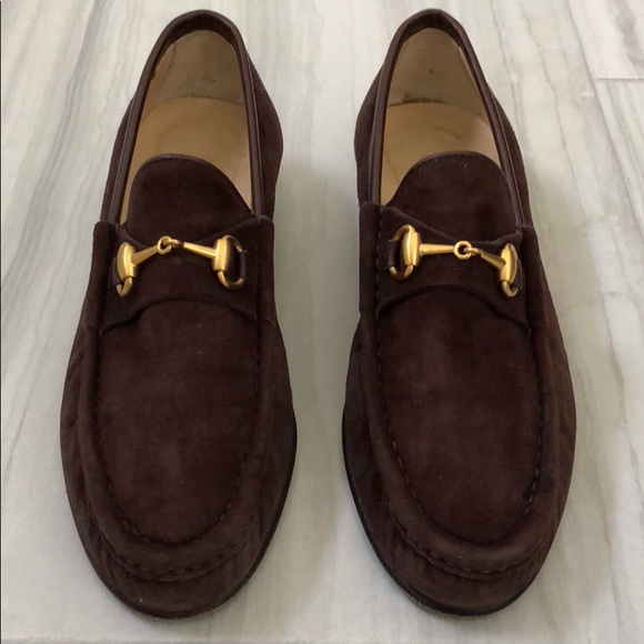 beec4aac456 Gucci Shoes - Vintage Gucci Horsebit Suede Loafers Women s.